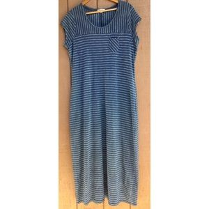Orvis Maxi Striped Dress Cap Sleeves